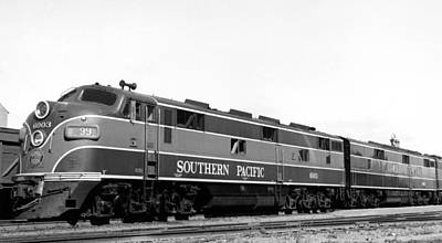 Sp Coast Daylight Train Art Print by Underwood Archives