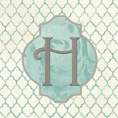 Letter Painting - Spa Monogram by Debbie DeWitt