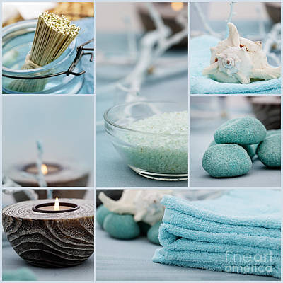 Spa Purity Collage Art Print by Mythja  Photography