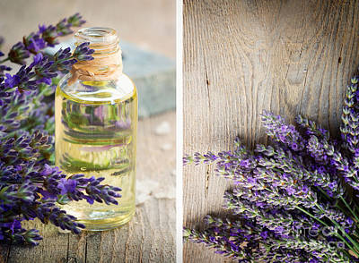 Spa With Lavender  Art Print by Mythja  Photography