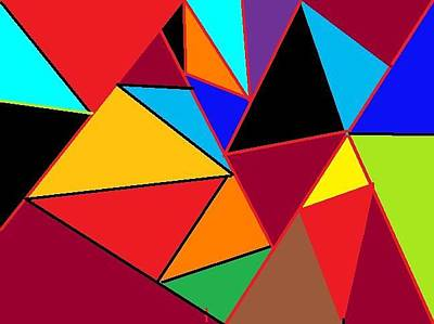 Painting - Space Angles by Ronald Weatherford
