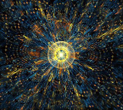 Digital Art - Space Disco by Radoslav Nedelchev