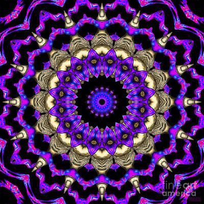 Art Print featuring the digital art Space Flower 3d Art by Hanza Turgul