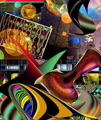 Reconstruction Digital Art - Space Flower by Rick Wolfryd