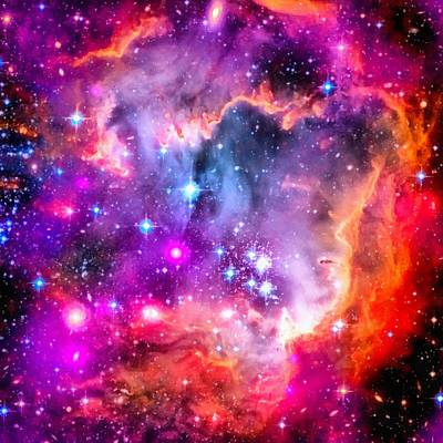 Space Image Small Magellanic Cloud Smc Galaxy Art Print