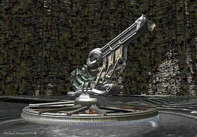 Space Jockey Digital Art - Space Jockey by Michael Wimer