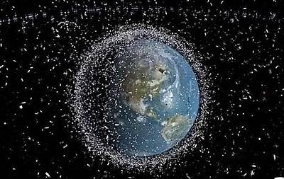 Astronomical Art Photograph - Space Junk by Science Source