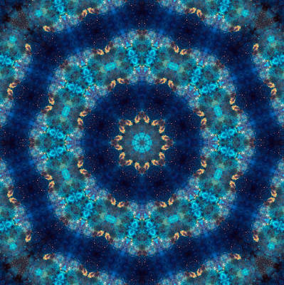Space Kaleidoscope Art Print by Pete Trenholm