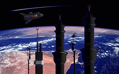 Space Minarets Art Print