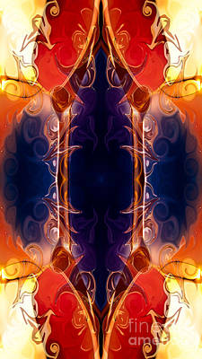 Space Needle Abstract Pattern Artwork By Omaste Witkowski Art Print by Omaste Witkowski