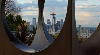 Photograph - Space Needle Framed by Shari Sommerfeld