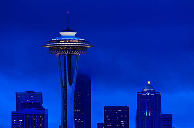 Space Needle Wall Art - Photograph - Space Needle Heights by Steve Gadomski
