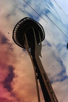 Photograph - Space Needle Reflections IIi by Robert  Moss