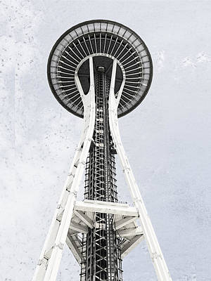 Digital Art - Space Needle Seattle by Susan Stone