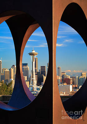 Architecture Photograph - Space Needle View by Inge Johnsson