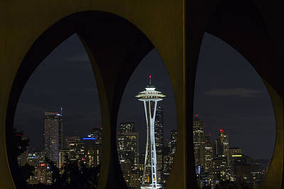Photograph - Space Needle by Windy Corduroy