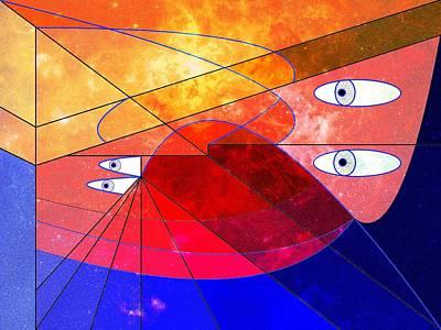 Wellington Digital Art - Space Odyssey 02 by Ron Davidson