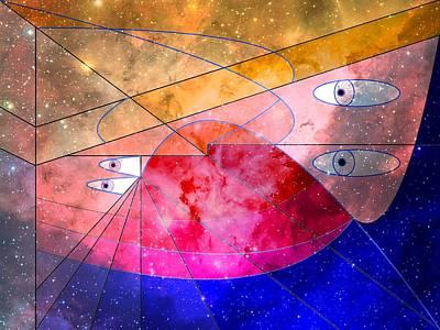 Wellington Digital Art - Space Odyssey 05 by Ron Davidson
