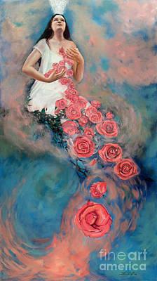 Space Of Love Art Print by Joyce Huntington