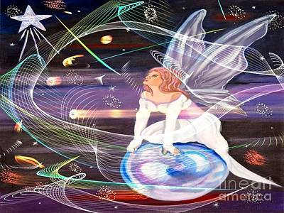 Painting - Space Angel by Phyllis Kaltenbach