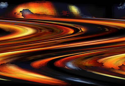 Digital Art - Space Rings by rd Erickson