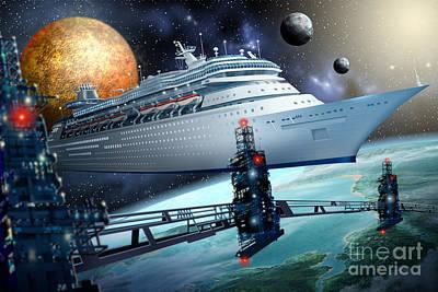 Gypsy Digital Art - Space Ship by Ciro Marchetti