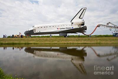 Space Shuttle Atlantis Final Mission Art Print by Chris Cook