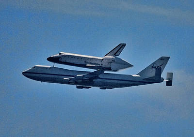 California Mission Photograph - Space Shuttle Columbia Flies On 92112 by Panoramic Images