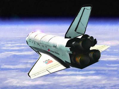 Digital Art - Space Shuttle Discovery by Douglas Castleman