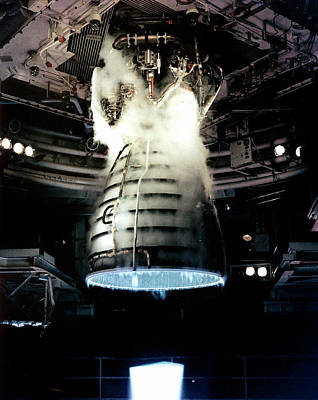 Space Shuttle Engine Testing Art Print