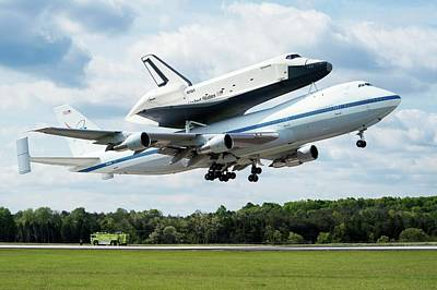 Space Ships Photograph - Space Shuttle Enterprise Piggyback Flight by Nasa/smithsonian Institution/mark Avino