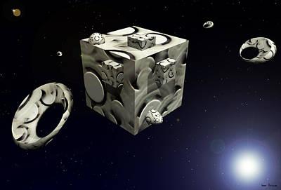 Rhythm And Blues Digital Art - Space Station 4409 F 1 by Sir Josef - Social Critic -  Maha Art