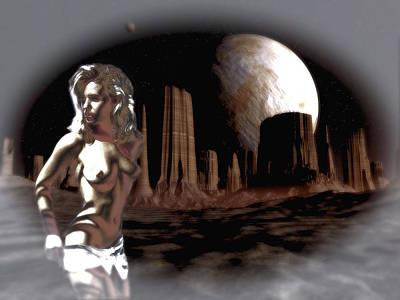 Future Of Society Digital Art - Space Stripper by Mario Carini