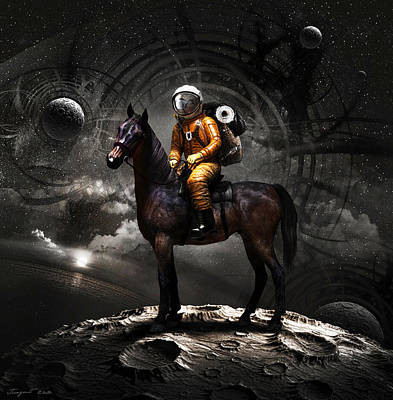 Moon Digital Art - Space Tourist by Vitaliy Gladkiy