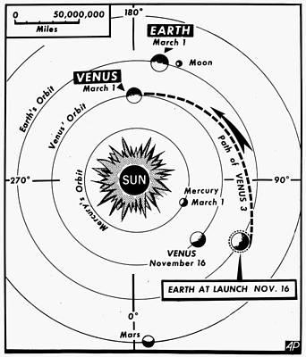 Photograph - Space: Venus 3, 1966 by Granger