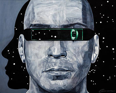 Borg Painting - Space Vision by Joe Ciccarone