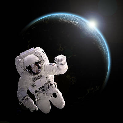 Outer Space Mixed Media - Space Walk No.11 by Marc Ward