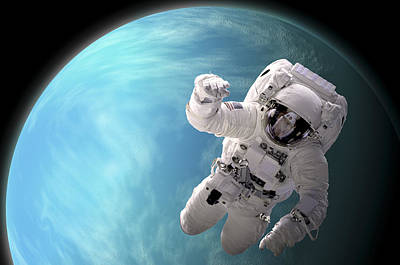 Outer Space Mixed Media - Space Walk No.9 by Marc Ward