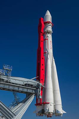 First Launch Photograph - Spacecraft Vostok-1 - East - Of Yury Gagarin - Featured 3 by Alexander Senin