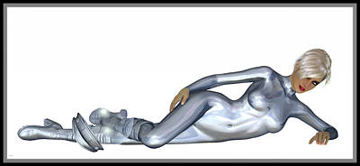 Digital Art - Spacegirl 5... by Tim Fillingim