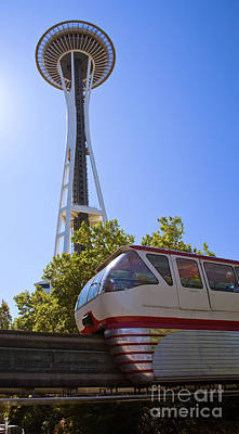 Movies Star Paintings - Spaceneedle and Monorail - V by Tim Mulina