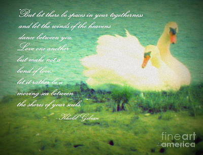 Spaces In Your Togetherness Print by Lainie Wrightson