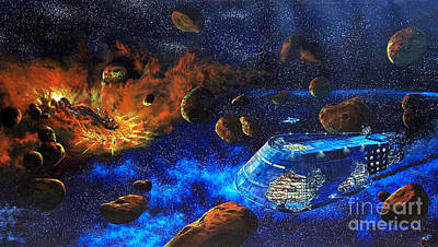 Spaceship Titanic Original by Murphy Elliott