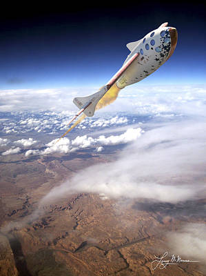 Aircraft Poster Photograph - Spaceshipone by Larry McManus