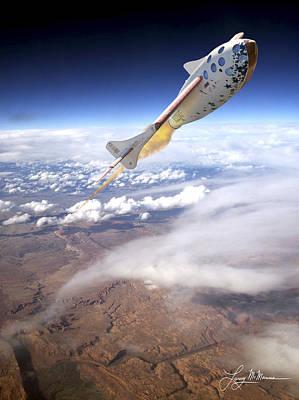 Spaceshipone Art Print by Larry McManus