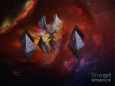 Digital Art - Spaceships At Dawn by Melissa Messick