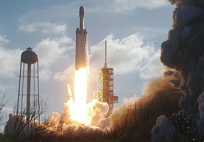 Photograph - Spacex To Launch First Heavy Lift by Joe Raedle