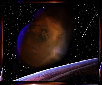 Deep Space Art Mixed Media - Spacial Darkness by Mario Carini