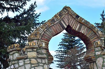 Fir Trees Mixed Media - Spade Shaped Archway by Kae Cheatham