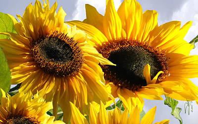Digital Art - Spade's Sunflowers by IM Spadecaller